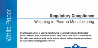 Getting to grips with regulatory compliance weighing in pharma manufacturing