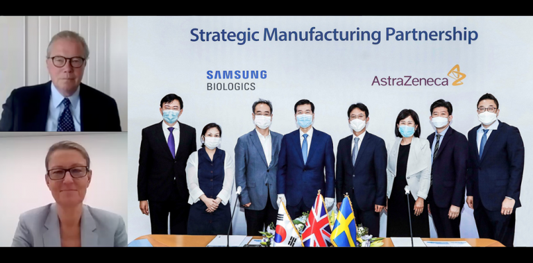 Manufacturing partnership for Samsung Biologics & AstraZeneca